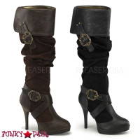 Carribean-216 * 4.5 inch cuff knee high platform boot with octopus buckles