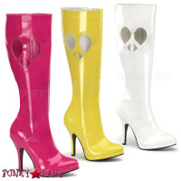 Heart Peace Sign GoGo Boots