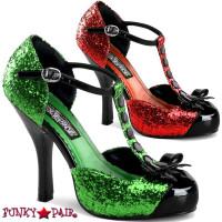Festive-10 * 4.5 Inch Platform sandal with T-strap d'orsay pump
