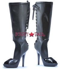 M-Carmella, * 5 Inch cut out knee high lace up back knee high * Made by ELLIE Shoes