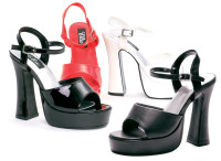 557-Lea, 5 Inch High Heel  with 3/4 Inch Platform Sandal Made by ELLIE Shoes