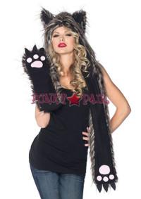 Plush Wolf Hood * A1932
