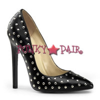 Sexy-20ST, 5 Inch High Heel Pointy Toe Pump with Stud
