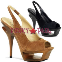 Deluxe-653, 5.5 Inch High Heel with 1.75 inch Platform Slingback