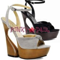 Swan-636, 6 Inch High Heel with 1.75 Inch Platform Sculptured Ankle Wrap Sandal