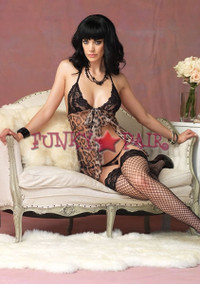 2 pc. Leopard Babydoll and Gstring * 86525
