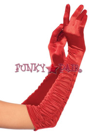 2042, Ruched Satin Gloves