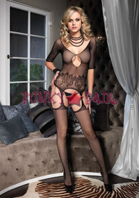 Fishnet quartersleeve Bodystocking * 89071