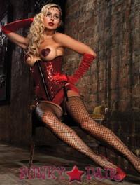Sequin underbust corset * 86507