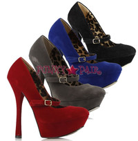 633-PAYTON-V, 6 Inch High Heel with 1.75 Inch Platform Mary Jane Pump Made by ELLIE Shoes