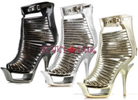 604-SAMANTHA, 6 Inch Stiletto High Heel with 1.75 Inch Cut Out Platform * Made by ELLIE Shoes
