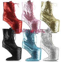 BP579-CHABLIS, 5.5 Inch High Heel Glitter Ankle Boot, Made by Ellie Shoes