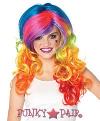 Rainbow Rocker Wig * A1977