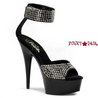 Delight-675, 6 inch high heel with 1.75 inch platfrom Studded ankle cuff