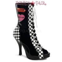 Sporty-135, 4.5 Inch High Heel Racer Ankle Boot
