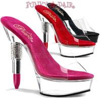 Rouge-601, 5.5 Inch Lipstick Heel Platform Slide