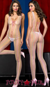 Multi-Colored Crochet Bodystocking * ML-1316