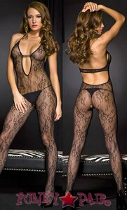 Deep V Neck Bodystocking * ML-1288