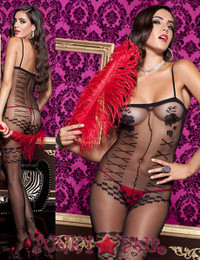 Faux Teddy Bodystocking * ML-1769