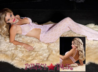 Lace Bodice Cut Out Bodystocking * ML-1770
