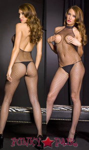 Peek-A-Boo Turtle Neck Bodystocking * ML-1072