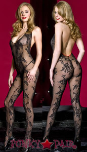 Bare Back Bodystocking * 1137