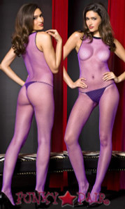 Sleeveless Purple Bodystocking * ML-1329