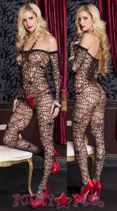 Spider Web Bodystocking * ML-1099