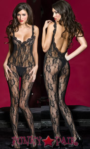 Backless Lace Bodystocking * ML-1121