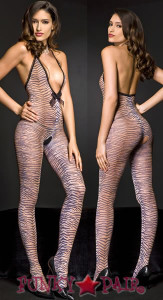 Tiger Print Bodystocking * ML-1463