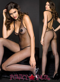 Rose Applique Bodystocking * ML-1460