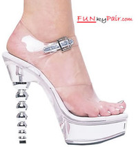 671-Brook, 6 Inch High Heel with 1.75 Inch Platform Clear Exotic Dancer Shoes Made by ELLIE Shoes