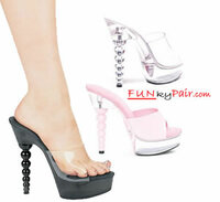 671-Vanity, 6 Inch High Heel with 1.75 Inch Platform Dancer Heel w/Spherical Heel Made by ELLIE Shoes
