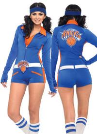 NY Knicks Long Sleeve Romper Costume