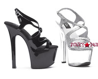 711-Lance, 7 Inch High Heel with 2.75 Inch Platform Exotic Dancer Shoes Made By ELLIE Shoes
