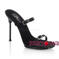 CHIC-02, Double Buckle Bands Stiletto Heel Mule Made By PLEASER Shoes