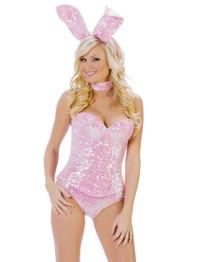 Pink Sequin Bunny * T1024