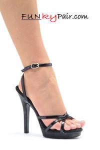 M-Gigi, 5 Inch High Heel with 1/2 Inch Platform Stiletto Heel Strappy Sandal Made by ELLIE Shoes