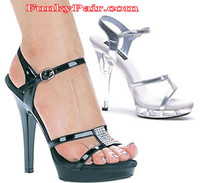 M-Jamie, 5 Inch High Heel with 3/4 Inch Platform Exotic Dancer Shoes Made by ELLIE Shoes