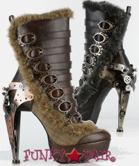 Polaro, 5 Inch High Heel Steampunk Ankle Boots * Made by Hades Shoes