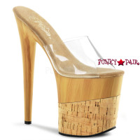Flamingo-801FW , 8 Inch Heel Slide with Faux Wood Platform