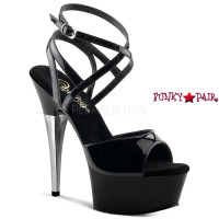 Captiva-649, 6 Inch High Heel with 1.75 Inch Platform Strappy Wrap Around Sandal