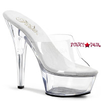Kiss-201TPU, 6 Inch High Heel Slide with Soft Upper Vamp