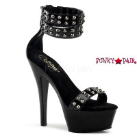 Kiss-272, 6 inch high heel with 1.75 inch dual platform Double Strap Ankle Cuffs with Studds Sandal