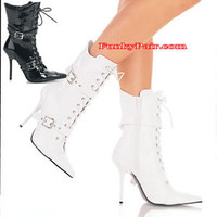 Milan-1022, Pointy-Toe Lace-up Ankle Boot * Made by PLEASER Shoes