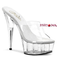Delight-601TPU, 6 Inch High Heel with 1.75 Inch Platform Soft Upper Vamp Slide