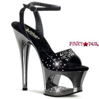 Moon-731RS, 7 inch high heel with 2.75 inch platform Cut Out Platform Wrap Strap Sandal
