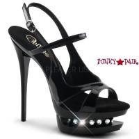 Blondie-R-620, 6 inch high heel with 1.5 inch Dual Platform Maryjane Slingback Sandal