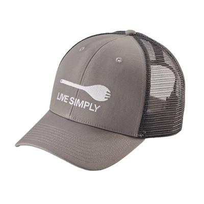 Live Simply Spork Trucker Hat Drifter Grey ALL