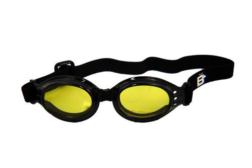 Birdz Ostrich Fold-able Padded Multipurpose Goggles Gloss Black Frames Yellow Anti-Fog Lenses